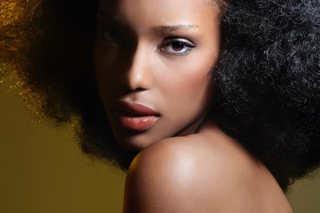 African Woman Closeup