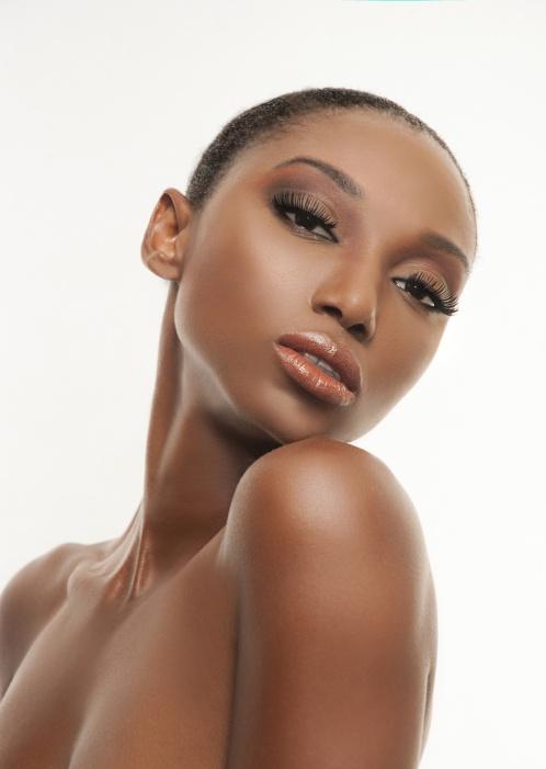 Over shoulder beauty portrait of woman