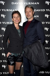 MILAN, ITALY - Mads Mikkelsen and Hanne Jacobsen attend 'David Yurman - Where Design Meets Art' during Milan Men's Fashion Week Fall/Winter 2017/18 on January 14, 2017 in Milan, Italy. (Photo by Stefania D'Alessandro/Getty Images for David Yurman) *** Local Caption *** Mads Mikkelsen; Hanne Jacobsen