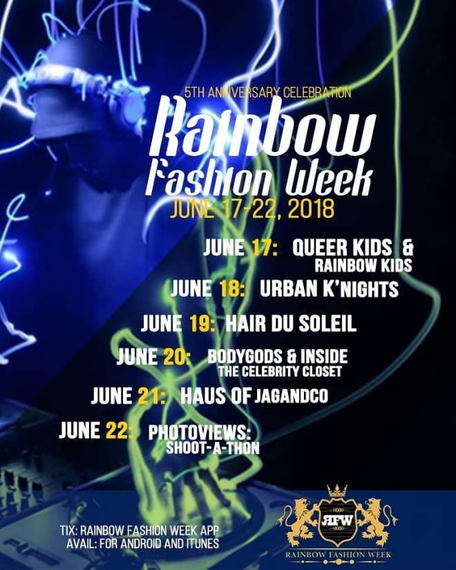 RAINBOW FASHION WEEK JUNE 2018