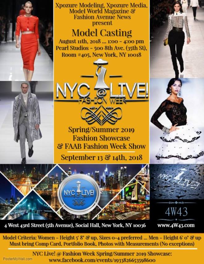 NYC LIVE FW AUDITIONS
