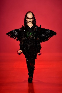 NEW YORK, NY - SEPTEMBER 07: Desmond Napoles walks the runway at the Disney Villains x The Blonds NYFW Show during New York Fashion Week: The Shows at Gallery I at Spring Studios on September 7, 2018 in New York City. (Photo by Frazer Harrison/Getty Images for Disney)