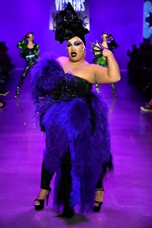 NEW YORK, NY - SEPTEMBER 07: A model walks the runway at the Disney Villains x The Blonds NYFW Show during New York Fashion Week: The Shows at Gallery I at Spring Studios on September 7, 2018 in New York City. (Photo by Frazer Harrison/Getty Images for Disney)