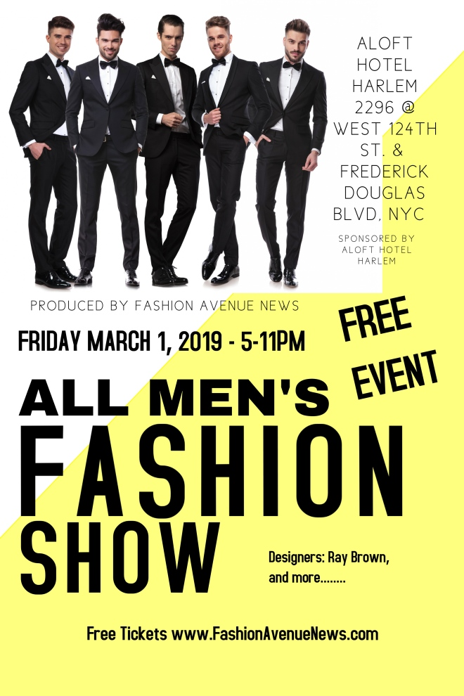 all mens fashion show march 1 aloft