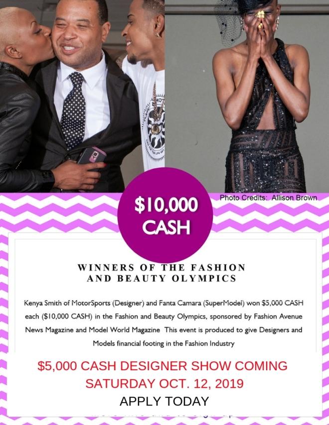 $5,000 CASH DESIGNER AWARD SHOW PAST WINNERS – FASHION