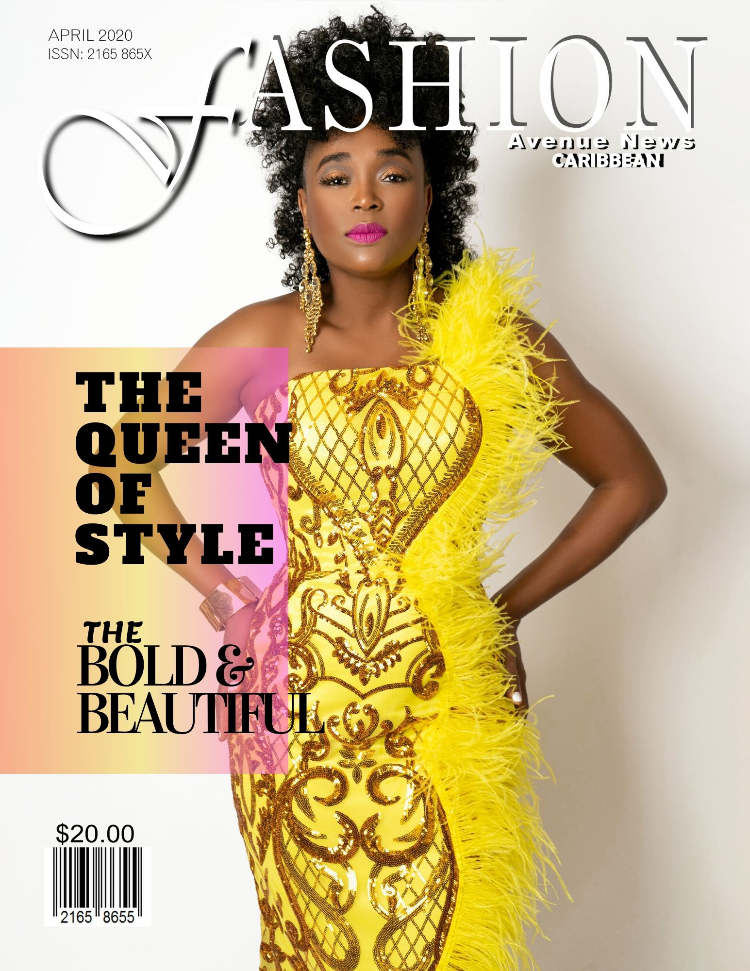 FAN CARIBBEAN FEATURING COVER MODEL BOSS LADY WENDY ISAAC